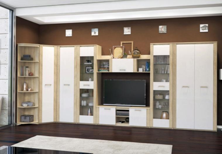 Где можно выбрать стенки в гостиную